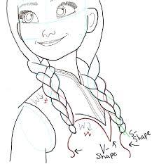 coloring breathtaking frozen anna drawing drawn disney 13
