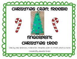 craft freebie fingerprint tree ornament with poem by