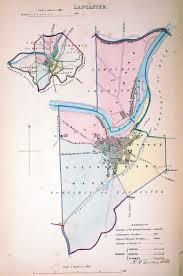 Lancaster Map Antique Maps Tooley Adams