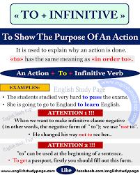 using u201cto infinitive u201d to show the purpose in english u2013 english