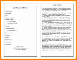 a funeral program 11 how to write a funeral program new wood
