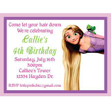 rapunzel birthday invitations rapunzel birthday invitations with