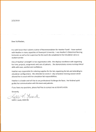 Letter Of Recommendation Free Template by 12 Recommendation Letter Nursing