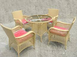 Rattan Outdoor Patio Furniture by Outdoor Patio Furniture Cushioned 5pc Rattan Wicker Aluminum Frame