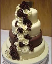 chocolate roses wedding cake white tiered chocolate wedding cake
