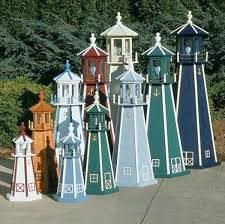 amish lighthouses wooden poly lawn garden yard handmade