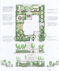 house plans for entertaining integrated geometric landscape site plan for a new dutch house