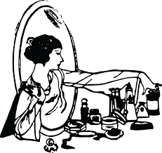 Portable Vanity Table Free Clipart Of A Retro Woman At A Vanity Table