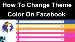 facebook themes and skins for mobile how to change facebook theme color 2018 youtube