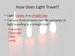 Light Travel What Is Light Light Make A List Of Things That Give Us Light