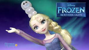 disney frozen northern lights elsa music and light up dress disney frozen northern lights elsa doll from hasbro youtube