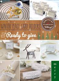 creative winter wedding place card ideas to diy or buy unique