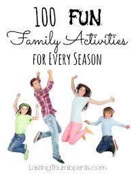 100 fun family activities for every season