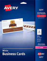 Avery Template Business Card Avery Business Cards For Laser Printers 5371 Avery Online Singapore