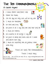 catholic 10 commandments for kids credit to this site for the