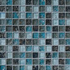 Kitchen Backsplash Blue 28 Blue Glass Tile Mosaic Sample Blue Glass Mosaic Tile