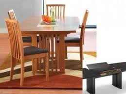 dining room tables with built in leaves hidden leaf dining table foter