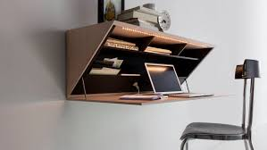 bureau secretaire moderne meuble secrétaire contemporain en bois mural segreto molteni c
