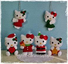 decoración de navidad hello fieltro keçe