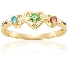 personalized birthstone rings keepsake personalized heart s birthstone ring