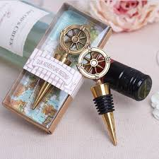 wine stopper wedding favor free shipping 100pcs lot nautical theme compass wine stopper