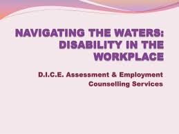 Counselling At Workplace Ppt Ppt Navigating The Waters Disability In The Workplace