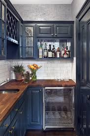 blue kitchen cabinets grey walls cobble hill townhouse blair harris interior design