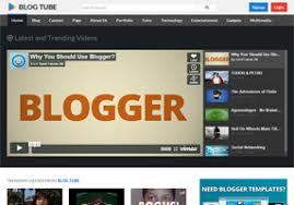 blogtube professional video blogger template free blogger