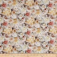rose cotton fabric floral fabric com