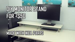 ikea computer desk hack diy monitor stand ikea computer desk hack with ekby jarpen shelf