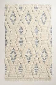 gray fringed striped diamond rug