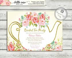 bridal tea party invitation garden tea party bridal shower invitation high tea invite tea
