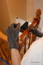 Restaining Banister How To Stain An Oak Banister The Idea Room