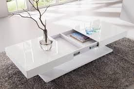 ventouse pour table basse en verre table basse design relevable et transformable akila coloris blanc