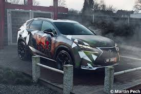 lexus pearl white paint job nx reveals temperature sensitive u0027star wars u0027 paint after heating