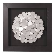 Howard Elliott Collection Chrome Coins Mounted on Black Frame