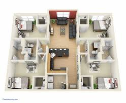 house plans with 4 bedrooms simple house plan with 4 bedrooms 3d ideas bedroom plans lovely a