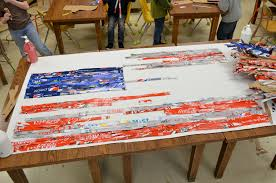 Jasper Johns Three Flags Expedition Art Jasper Johns Inspired American Flag