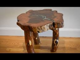 woodworking how to level rustic mesquite end table log legs with