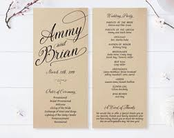 cheap wedding ceremony programs printed program etsy