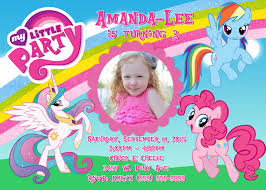 My Birthday Invitation Card My Little Pony Birthday Invitations U2013 Gangcraft Net
