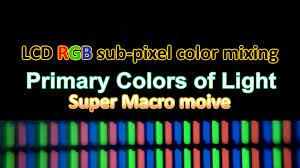 Primary Colors Of Light Primary Colors Of Light 빛의 삼원색 혼합 Lcd Rgb Sub Pixel Color