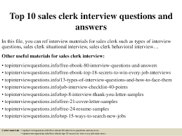Sample Of Resume For Sales Lady by Top 10 Sales Clerk Interview Questions And Answers