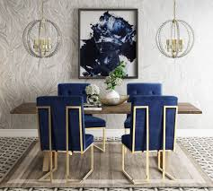 leah brown and gold dining room set from tov coleman furniture