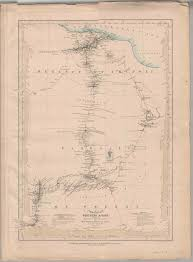 Map Of Northern Africa by Map Of Part Of Northern Africa Showing The Routes Of The