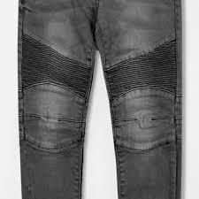 boys grey u0027skinny fit u0027 biker stretch jeans