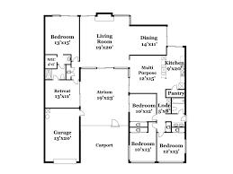 Eichler Floor Plan 17013 Lisette St Granada Hills Ca 91344 Planomatic Com