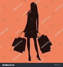 woman shopping bags silhouette stock vector 342116735 shutterstock