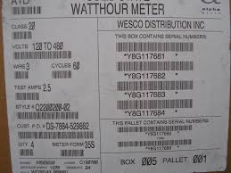 general electric ge watthour meter kwh model i 210 240