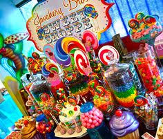 Candy Themed Party Decorations Candyland Sweet16 Decorations Sweet Sixteens Pinterest